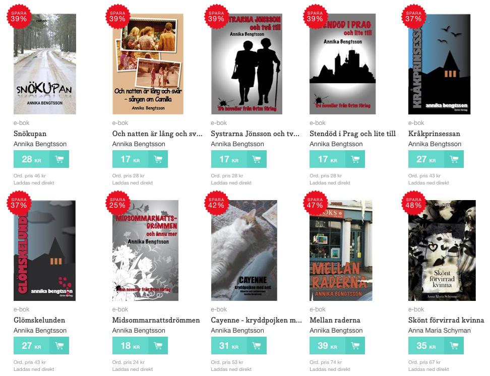 Några exempel på Grims böcker till extra lågt pris.
